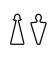 outline male and female icons wc pictograph vector image