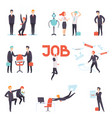 people searching and losing their jobs set vector image vector image
