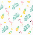 pink flamingo tropical pattern vector image vector image