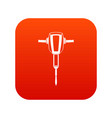 pneumatic plugger hammer icon digital red vector image vector image