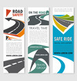 road safety travel and car trip banner set design vector image vector image