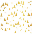 scattered gold foil triangles white pattern vector image