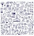 school - doodles set vector image