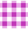 seamless white dark and bright pink tartan vector image