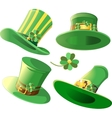 set hats on a white background vector image vector image