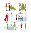 set of new years eve celebration design vector image vector image