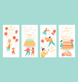 set templates for greeting birthday banners vector image vector image
