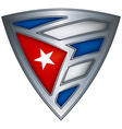 shield with flag cuba vector image vector image