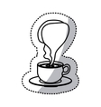 sticker silhouette cup coffee with smoke arom vector image vector image