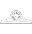 Table clock outline drawing vector image