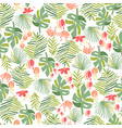 tropical flower jungle seamless pattern vector image vector image