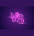versus sign vs glow symbol vector image vector image