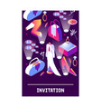 vertical card with stylish fashion isometric vector image