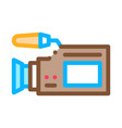 video camera tool icon outline vector image