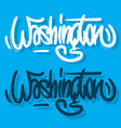 washington district of columbia usa hand drawn vector image vector image