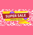 web banner horizontal super sale special offer vector image vector image