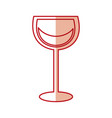 wine glass in trendy flat style vector image