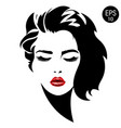woman face fashion portrait vector image vector image