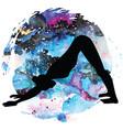 women silhouette adho mukha svanasana downward vector image vector image