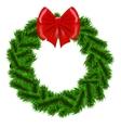 Christmas fir tree wreath vector image