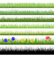 Grass patterns vector image