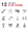 12 festive icons vector image vector image