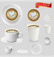 3d realistic cappuccino coffee vector image vector image