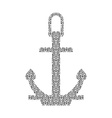 Abstract Anchor Silhouette with Pattern vector image vector image