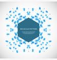 abstract geometric lattice molecules on sam vector image vector image
