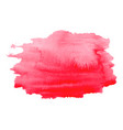 abstract watercolor bright pink red hand drawn vector image