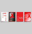 aids world day typography design for cover vector image vector image