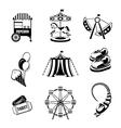 Amusement park elements vector image