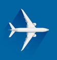 an airplane on blue background vector image vector image