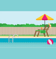 background of swimming pool flat vector image vector image