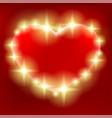 beautiful shining heart vector image vector image