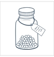 Bottle with pills isolated on white vector image