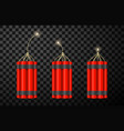 burning dynamite checkers realistic vector image