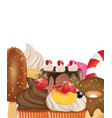 candies set on white background vector image vector image