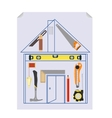 Carpenters Tool Kit Project vector image
