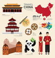 China Flat Icons Design Travel Concept vector image vector image