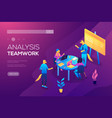 collaboration concept with collaborative people vector image vector image
