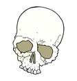 comic cartoon spooky old skull vector image vector image