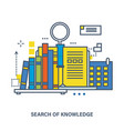 concept of knowledge and online education vector image vector image
