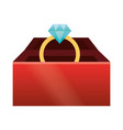 cute gift box cartoon vector image