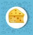 delicious cheese icon vector image