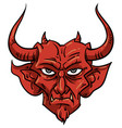 demon mascot vector image