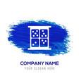 dice icon - blue watercolor background vector image