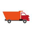 dump truck icon image vector image