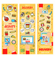 fast food delivery service vector image vector image