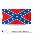 Flag of Confederate states of America vector image vector image